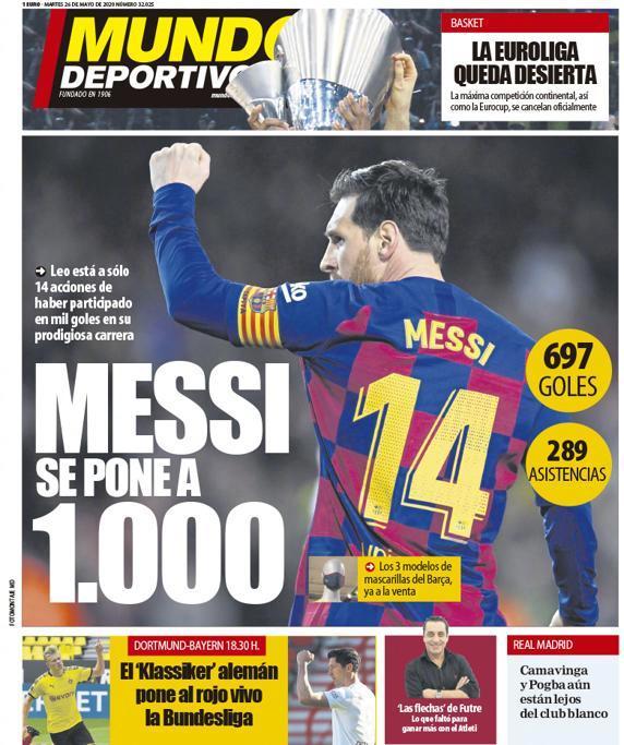 梅西距造1000粒进球只差14球!生涯697球289助攻