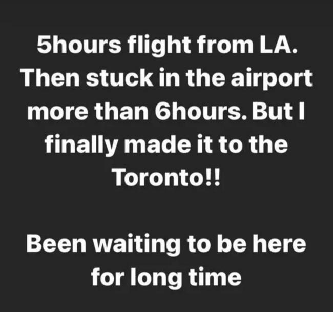 渡邊雄太從洛杉磯前往多倫多 竟用11個小時!