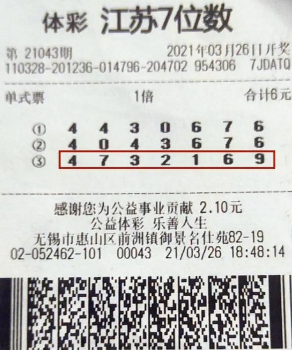 老彩民4元擒体彩500万:这注号码守了整整10年!