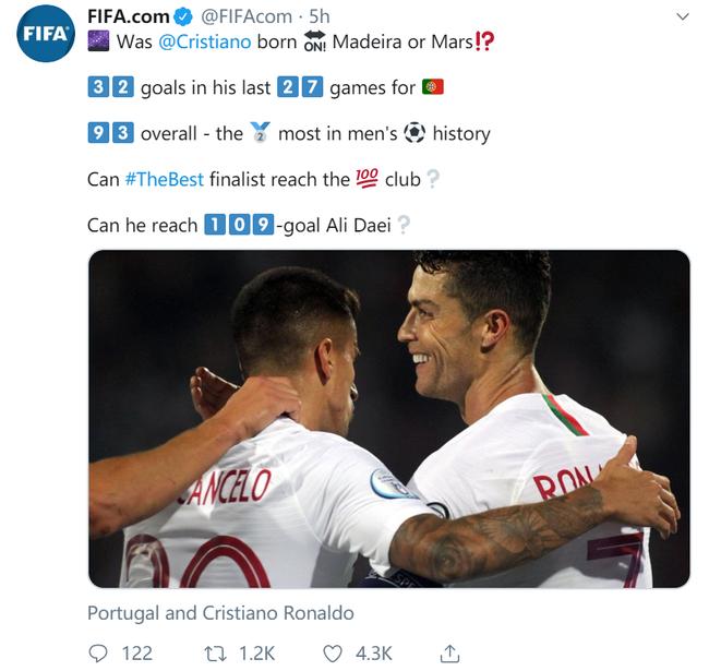 国际足联忍不住开吹