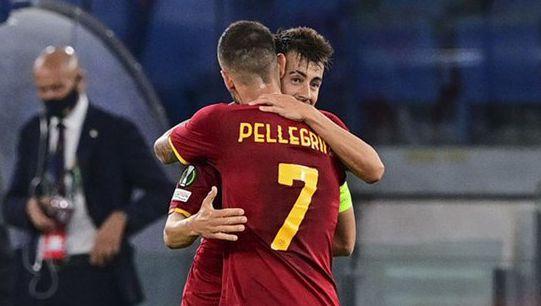 欧协杯-佩莱格里尼双响 沙拉维进球 罗马5-1逆转