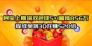 阿宝&刘贵上期双色球中5+1 程成3D狂赚520倍