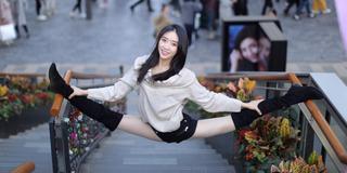 網絡一字馬女神 她曾是中國最美的國家隊隊長