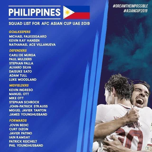 菲律宾大名单