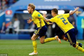 福斯贝里进球 瑞典1-0淘汰10人瑞士