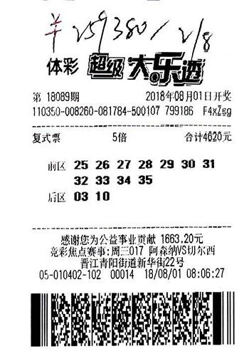 体彩杀手!男子一个月内两中大奖揽1551万-票