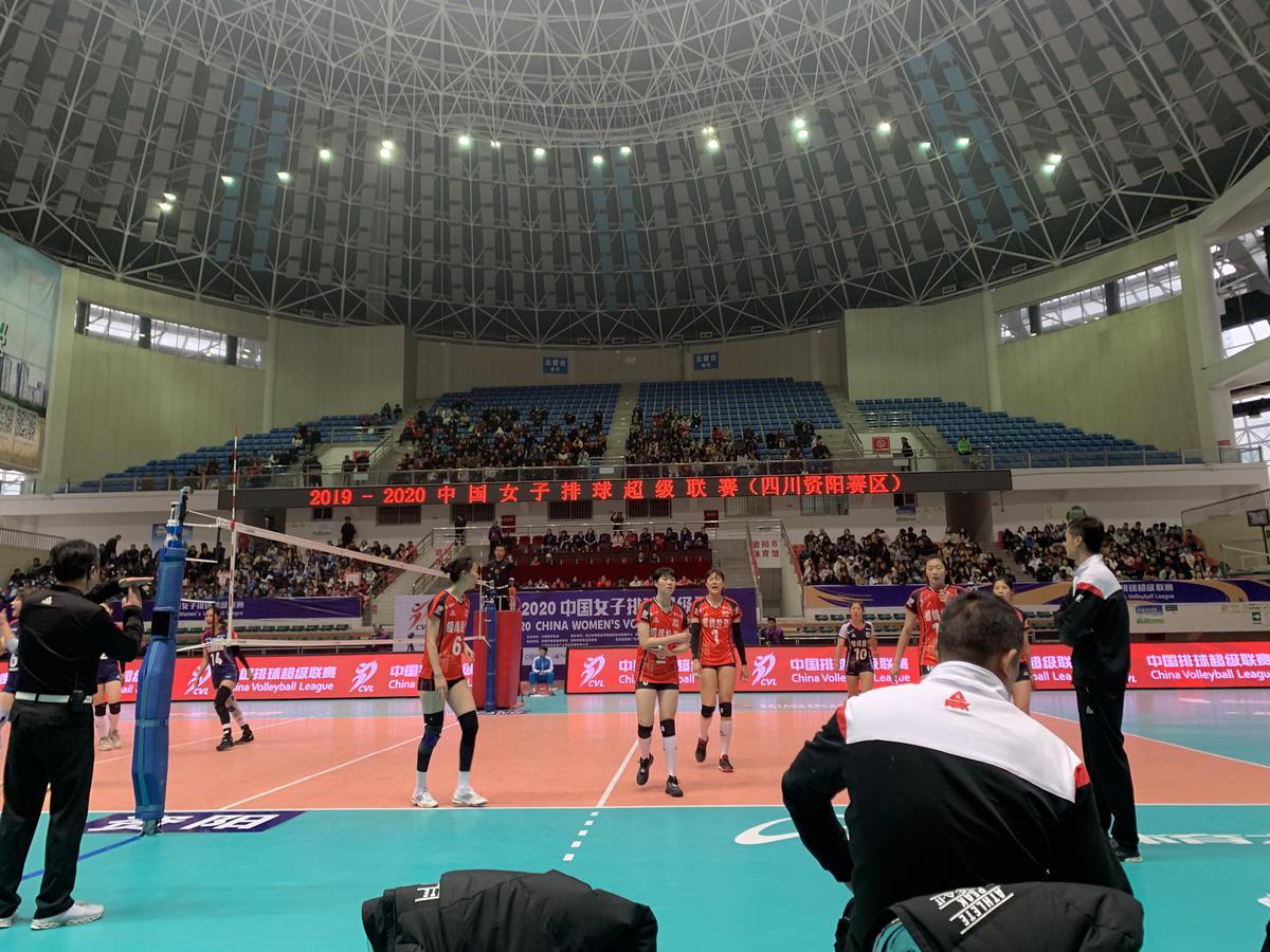 19-20中国女排超级联赛第九轮第54场四川女排3:1战胜河南女排