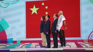 新浪体育直击中国亚运代表团升旗仪式