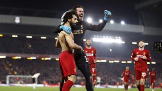 萨拉赫进球 利物浦2-0曼联 13连胜领跑