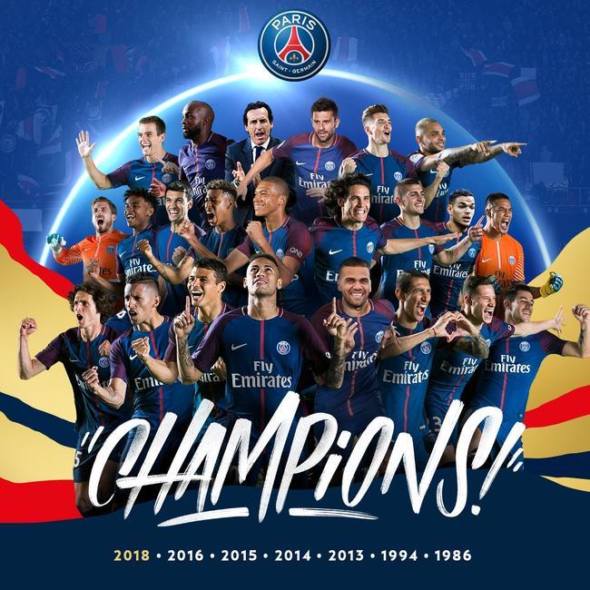 巴黎夺得法甲冠军
