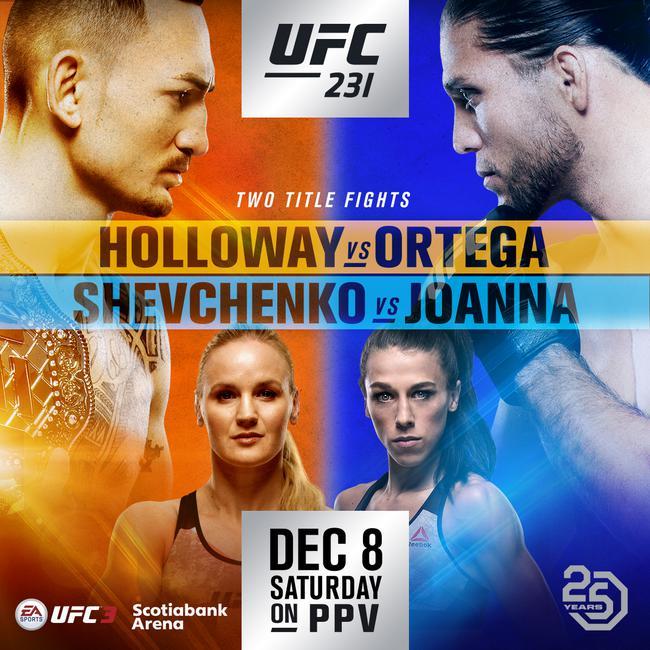 UFC 231 霍洛威 VS 奧爾特加