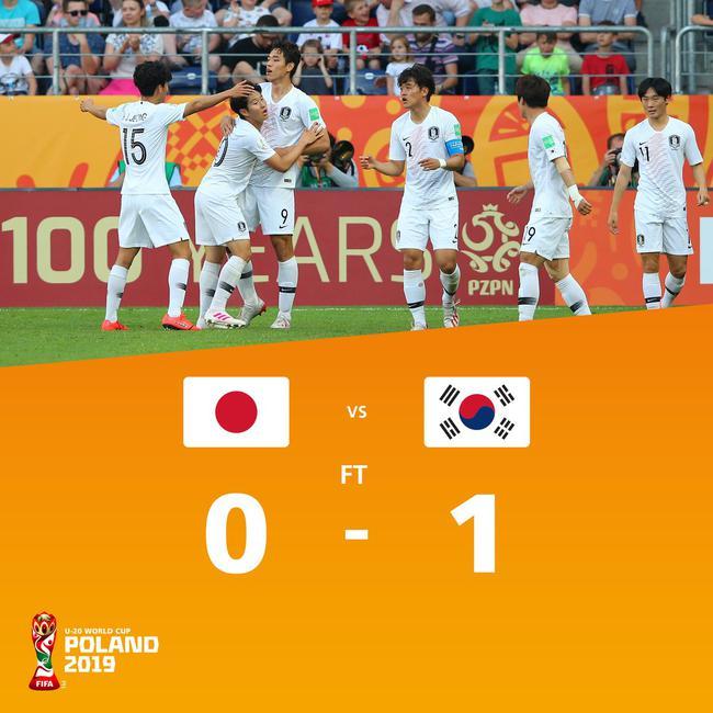 世青赛-韩国1-0绝杀日本赢德比 时隔6年再进八强