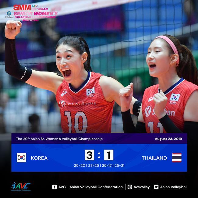 韩国女排取胜