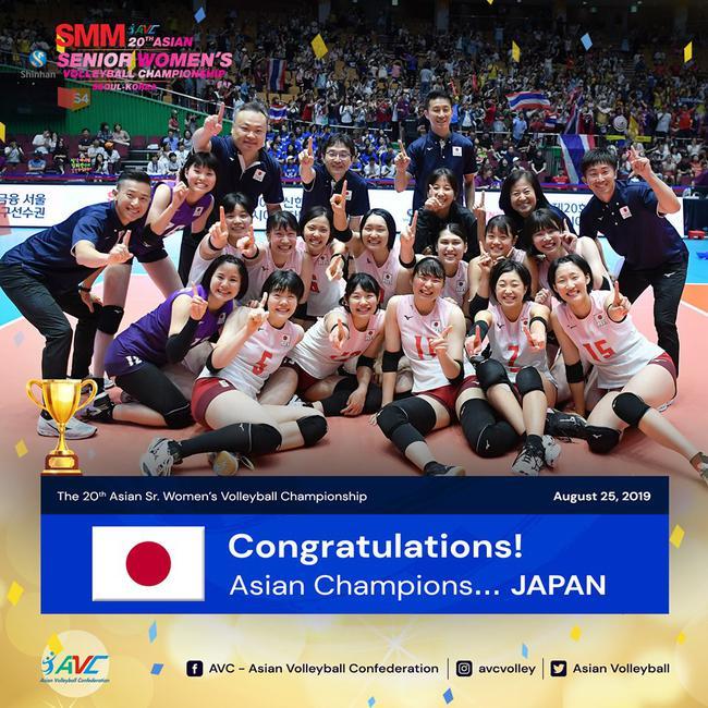 日本青年军女排亚锦赛爆冷卫冕 韩泰强阵冲冠受挫
