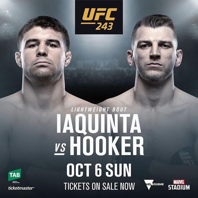 UFC243亚昆塔对决霍克尔 新秀图瓦萨出战谢尔盖