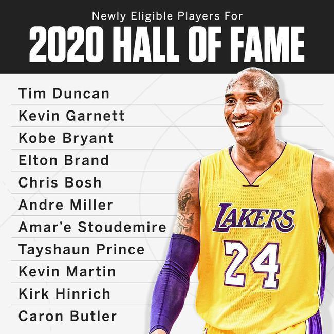 有资格入选2020年名人堂的名单