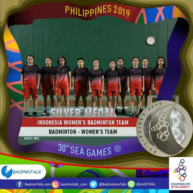 印尼女队收获银牌