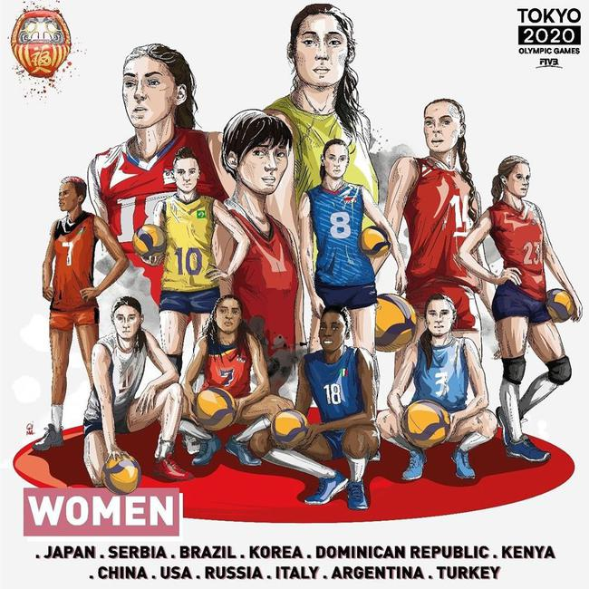 东京奥运会女排12强