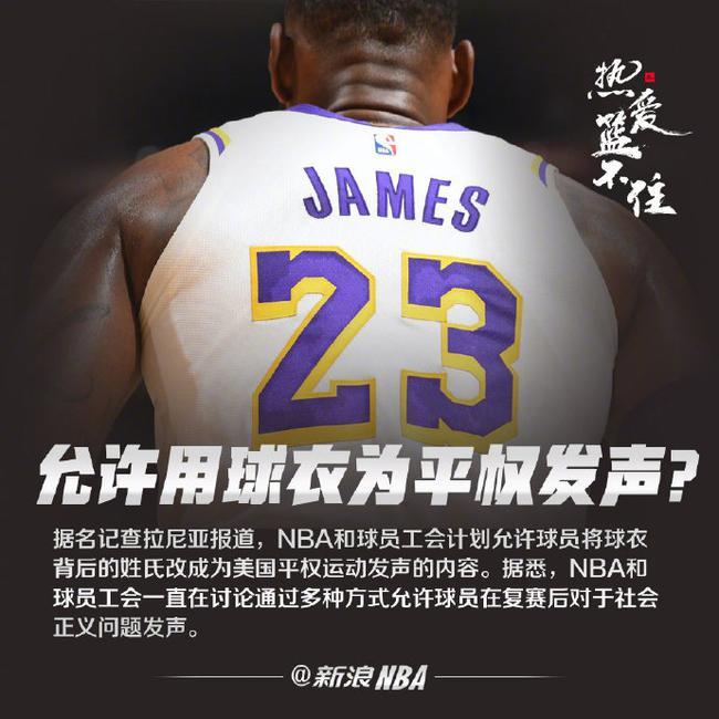NBA酝酿重大变革! 球员背后不止可以印名字了