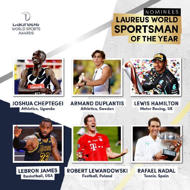 劳伦斯世界体育奖提名揭晓 詹姆斯莱万竞争佳男
