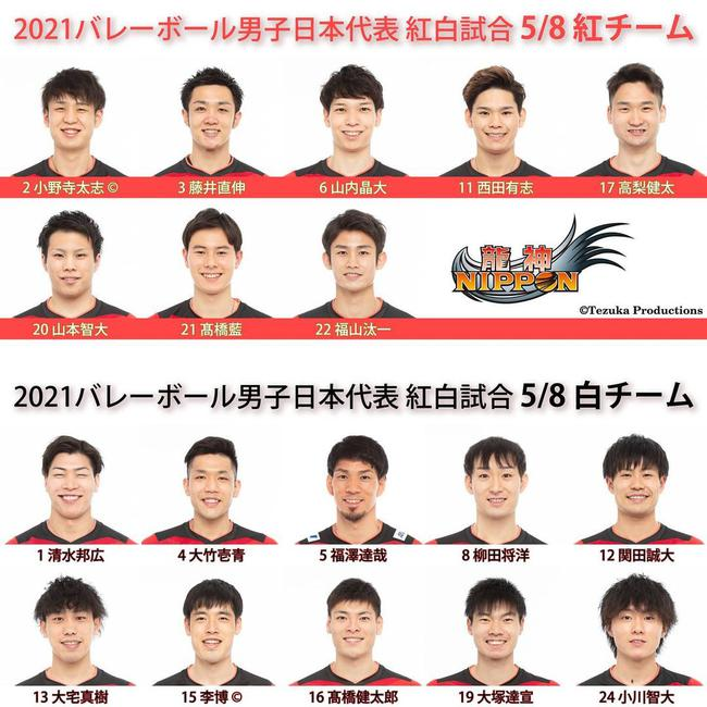 日本男排举行红白对抗赛 西田有志领衔石川缺席