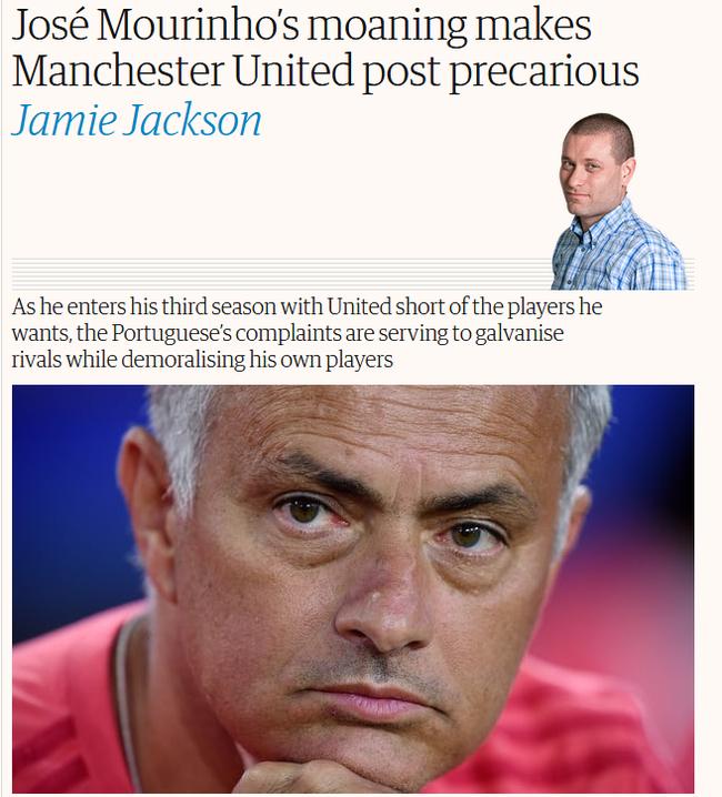 英媒也在担心穆里尼奥的第三年