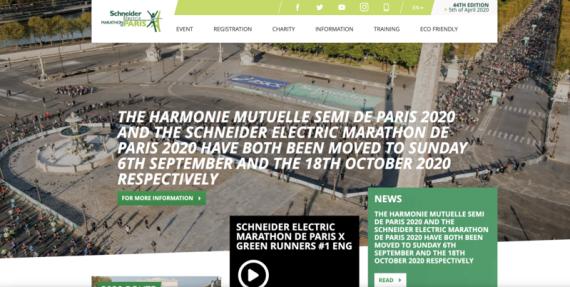 图片来源于巴黎马拉松赛官网