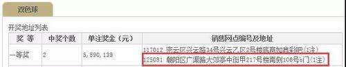 北京朝阳559万双色球大奖遭弃 奖