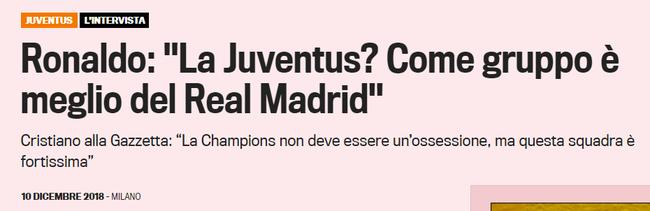 C罗批准《米兰体育报》采访