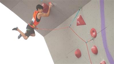广州小将潘愚非是中国攀岩的希望之星