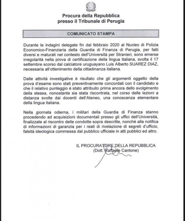 苏亚雷斯意大利护照考试作弊 提前确定考试分数