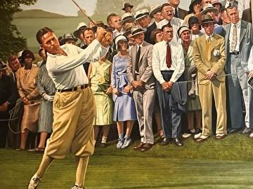 切诺基城乡高尔夫俱乐部鲍比·琼斯原版绘画