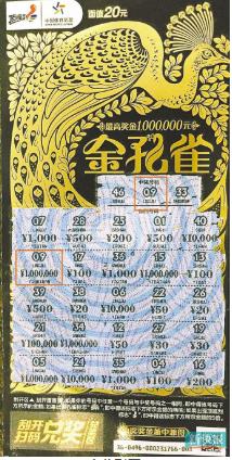 金孔雀送惊喜 男子尝鲜买2张即中体彩100万大奖_亚博