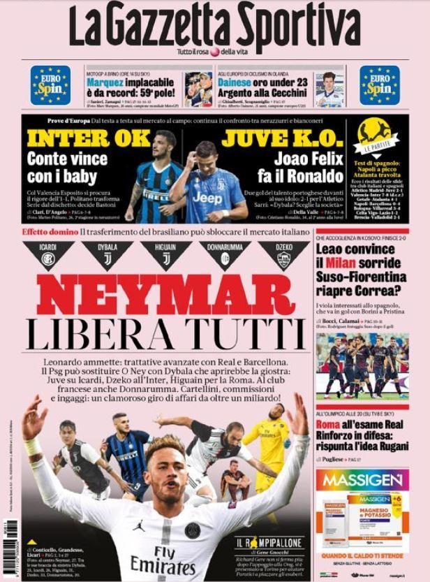 《米蘭體育報》封面