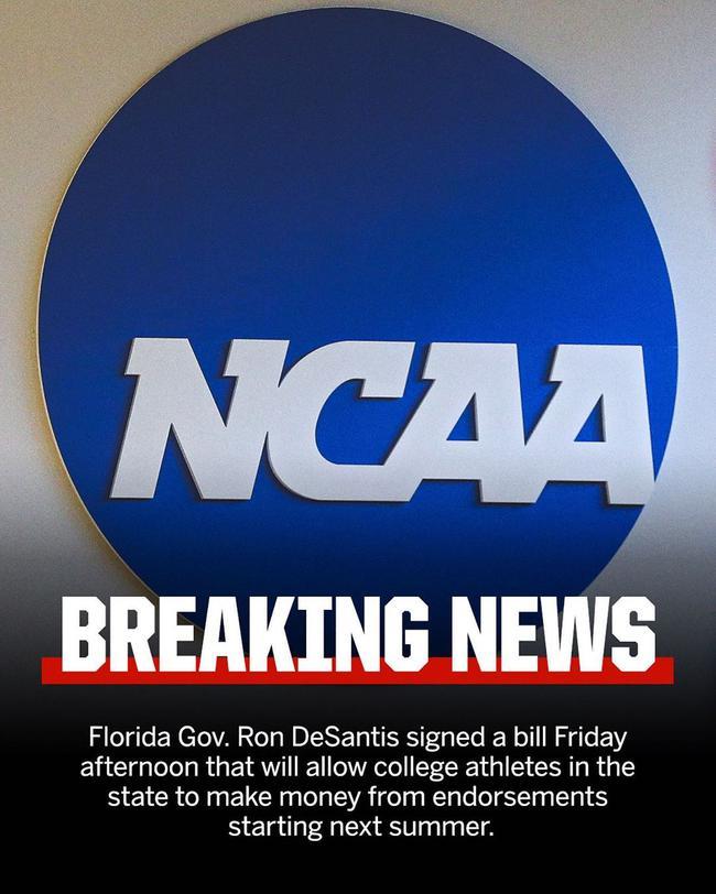 NCAA球员能赚钱了!明年夏天开始能接代言赞助