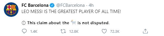 巴萨官媒顽梗调侃特朗普:梅西是历史最佳 无争议