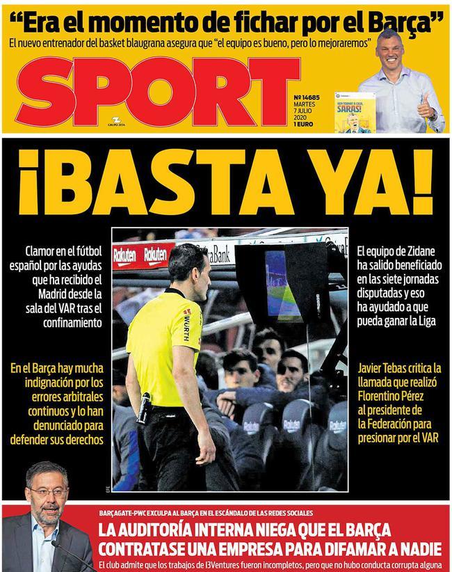 巴萨将正式发起抗议!VAR引起西班牙足球界不满