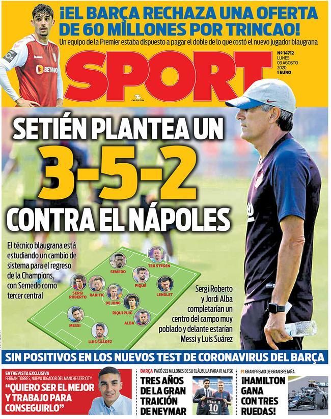 曝巴萨变阵352征战欧冠淘汰赛 只为了给梅西减负