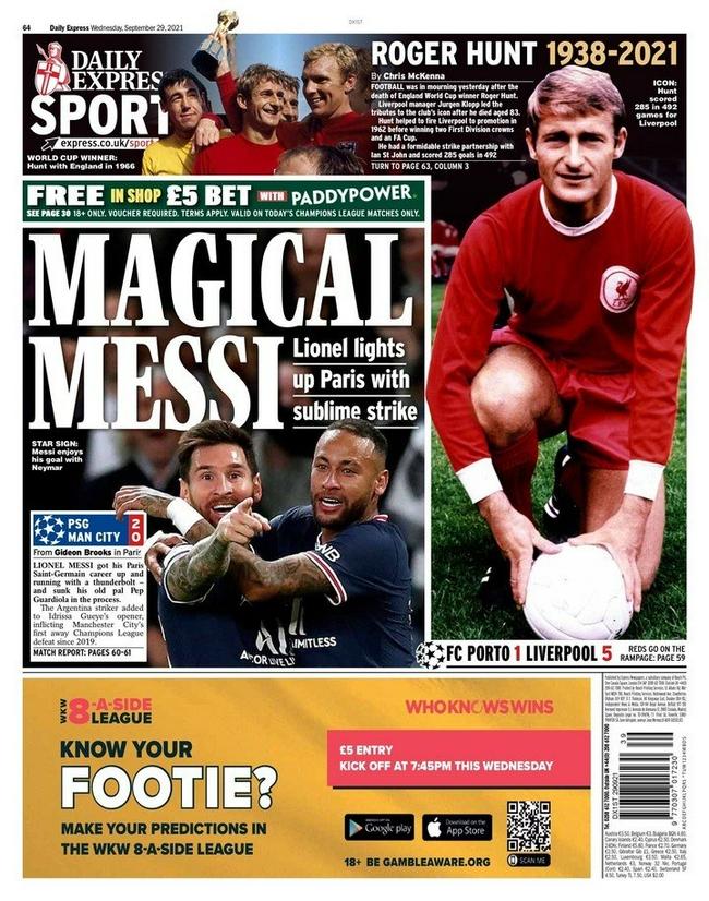 英媒集体拜倒在梅西脚下:称赞他是魔术师和天才