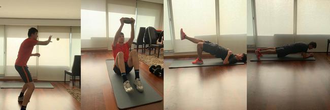 库迪热提和凯维赛尔在葡萄牙的家中训练