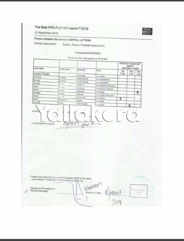 苏丹足协出示hg0088官网选票