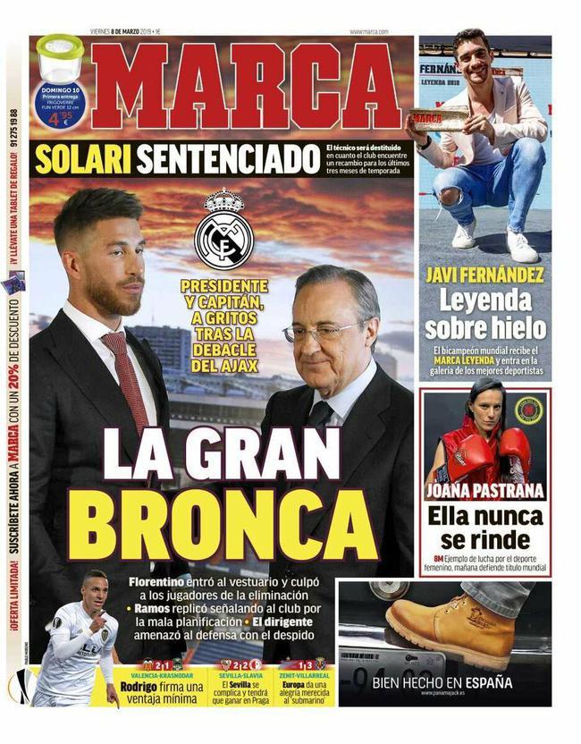 《马卡报》封面:大争吵