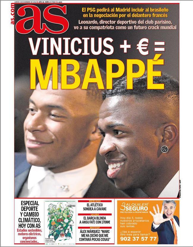 维尼修斯+钱换姆巴佩