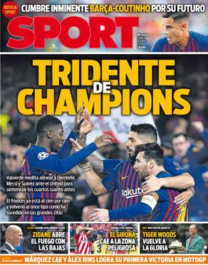 《每日体育报》报道,巴尔韦德考虑排出梅西、苏亚雷斯和登贝莱的三叉戟。