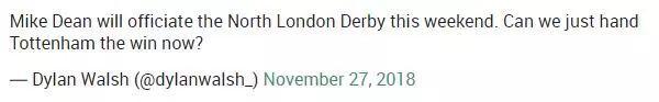 麦克-迪恩吹罚北伦敦德比, 现在可以算热刺赢球吗?