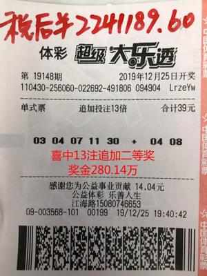 老彩民守号一年揽大乐透二等313万:奖金不太够花