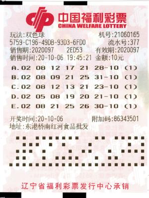 男子机选+自选擒双色球548万 每期固定投注10元