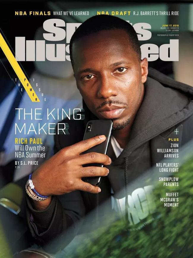 影響力巨大!詹皇經紀人登上《體育畫報》的封面:他將在今夏主宰NBA!-籃球圈