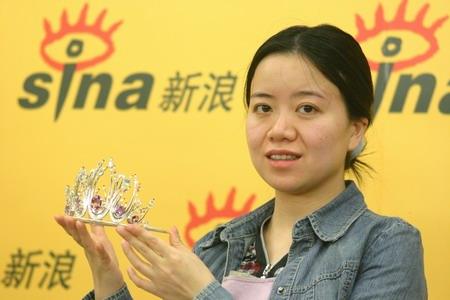 中国第三位国象世界棋后许昱华做客新浪