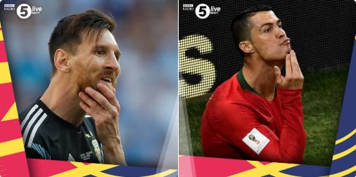 BBC将二人捋胡须的照片做了比,一人失落彷徨,一人神采飞扬,谁最终能成为真正的goat?